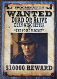 "Supernatural Dean Winchester ""Posse Magnet"" Wanted Poster"